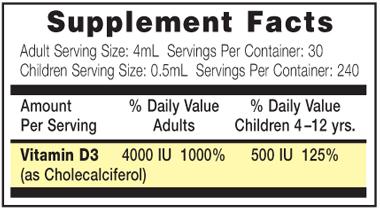Vitamin D3 Liquid Concentrate (120 mL)