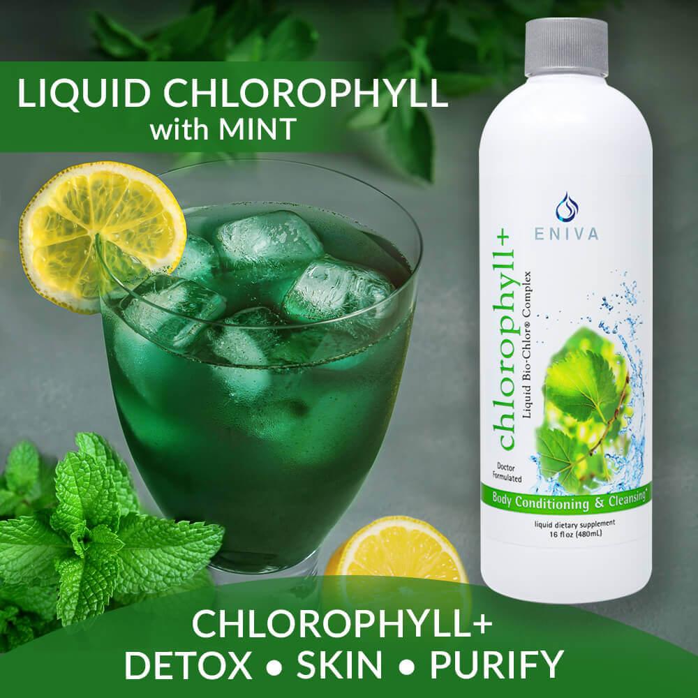 liquid chlorophyll mint skin acne