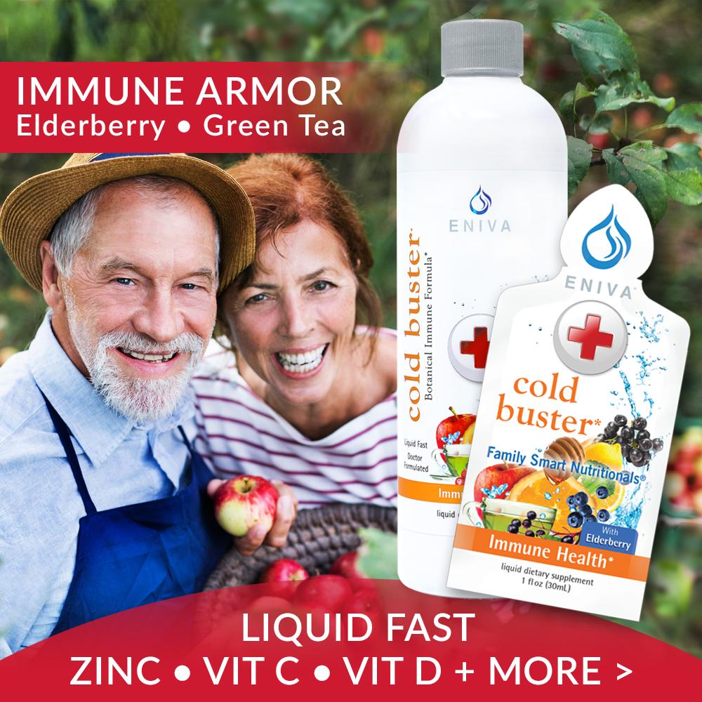 Cold Buster Immune Armor Elderberry Green Tea Vitamin D Zinc Vitamin C